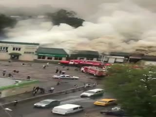Пожар на автостанции 24.07.2018